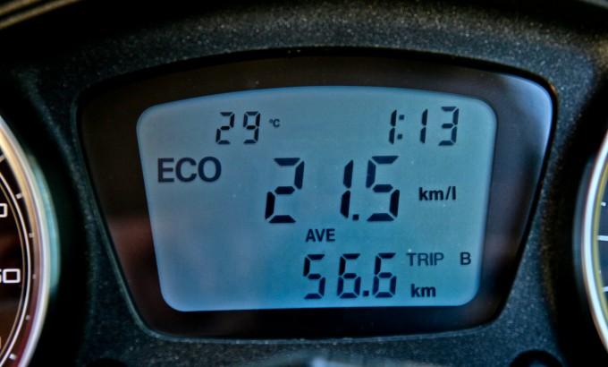 Putni računar je retkost na skuterima pa čak i premijum klase. Pored prosečne potrošnje (izražene tipično italijanski - u kilometrima po litru), pokazuje trenutnu potrošnju, prosečnu brzinu, napon akumulatora, najveću ostvarenu brzinu...