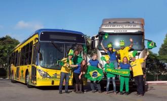 Scania u bojama Brazila