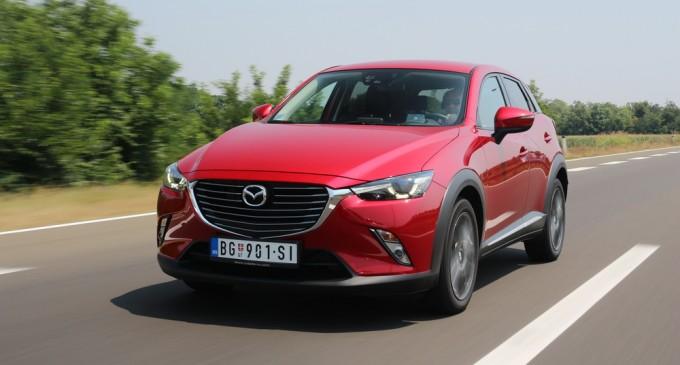 Vozili smo: Mazda CX-3 G120 Revolution