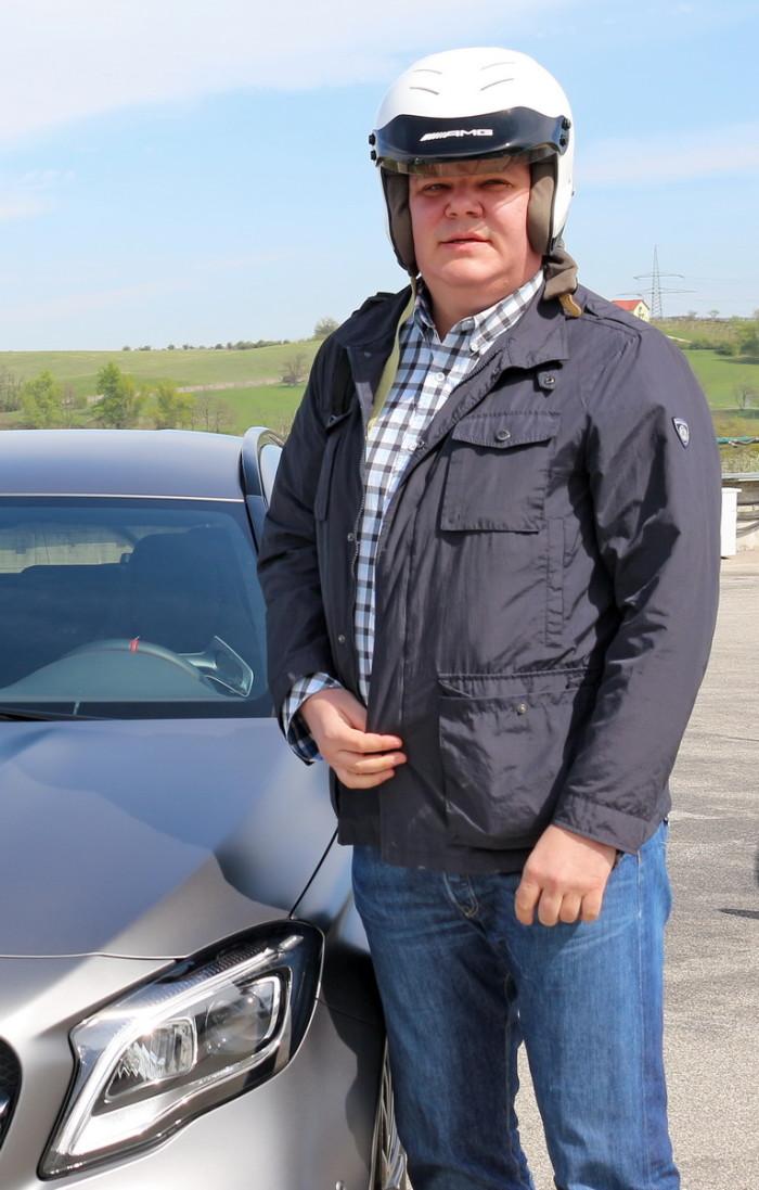 Auto magazim mercedes kompaktna klasa i AMG vožnja po Hungatoringu Ivan Katunac