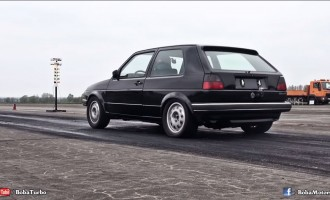 Brutalni VW Golf II: 0-100 kmh/h za 2,5 sekunde!