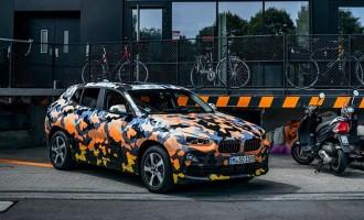 BMW X2 pred potpunim otkrivanjem