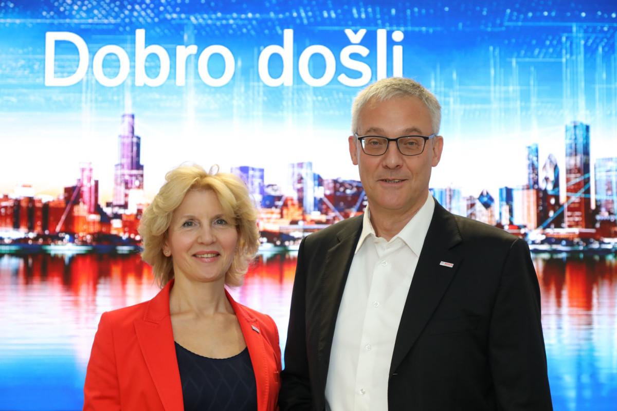 Jovanka Jovanović i Peter Rihter iz kompanije Bosch