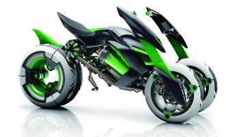 Prvi Kawasaki trotočkaš – J concept