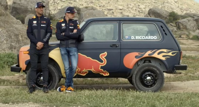 Verstappen i Ricciardo zamenili F1 za Ladu Nivu