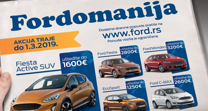 Fordovi automobili do 1. marta  po posebnim cenama