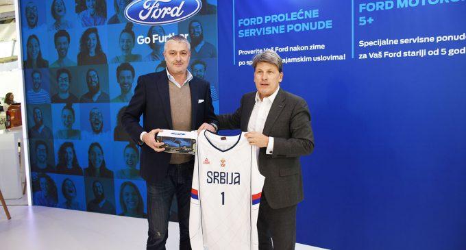 Predrag Danilović na štandu Forda
