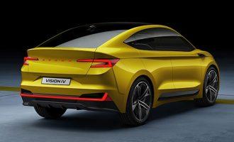 Škoda Vision IV EV Concept je kupe SUV