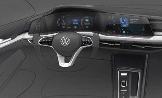 VW Golf 8 će biti sav u displejima