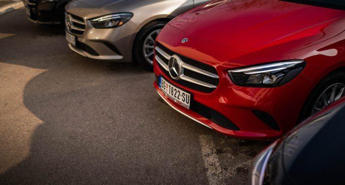 Mercedes B-Klase deo flote velike rent-a-car kompanije