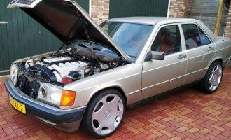 Čista egzotika: Mercedes 190 sa 6.0 V12 motorom iz 600 SEL