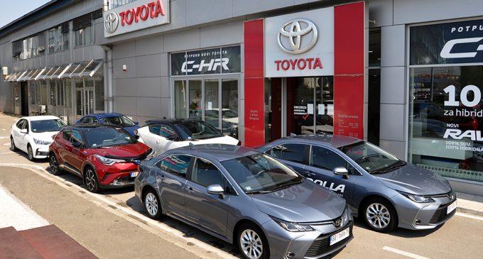 Toyota Srbija obezbedila šest vozila za prevoz zdravstvenih radnika