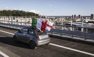 Novi Fiat 500 prvi prešao obnovljeni most u Đenovi
