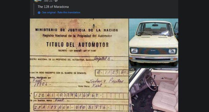 Da, Maradona je vozio i ovaj auto