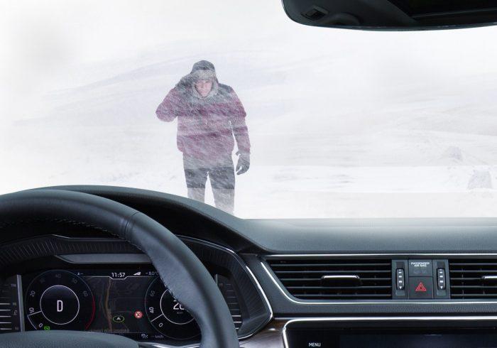 Škoda odleđivanje automobila