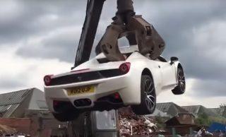 Ferrari 458 nije bez razloga uništen od strane policije