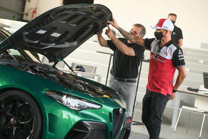 Kimi Raikkonen Alfa Romeo Giulia GTA